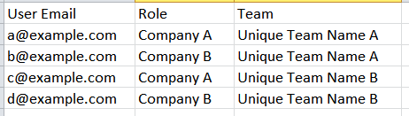 Team and Role Assignment